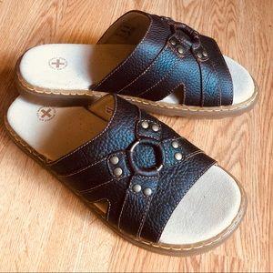 Dr. Martens Air Wair Rhea Brown Leather Sandals